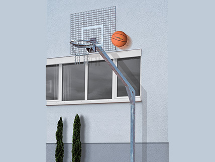 ROYAL STREETBALL SYSTEM WITH GRID BACKBOARD