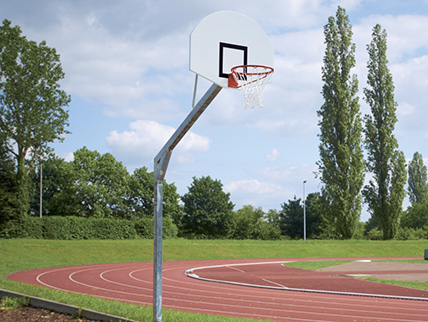 Royal Streetball System with GFK Backboard, round